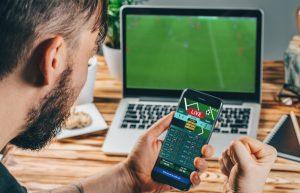 Man using a betting app
